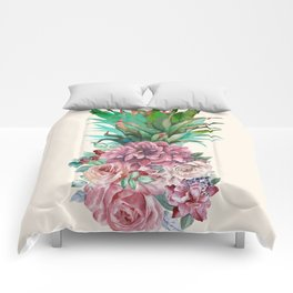 Floral Pineapple Comforters