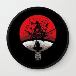 Naruto Shippuden Uchiha Clan Logo Wall Clock
