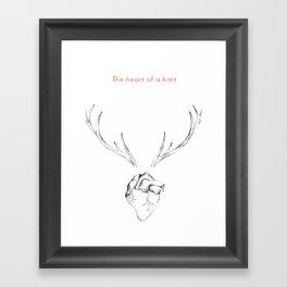 The Heart of a Hart Framed Art Print
