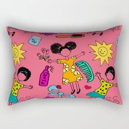 Happy Nappy Rectangular Pillow