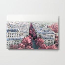 Paris View from Arch de Triomphe - Surreal Fine Art Travel Photography Metal Print