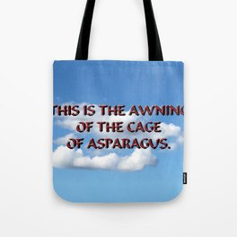 Cage of Asparagus Tote Bag