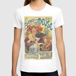 Alfons Mucha Art Nouveau Beer Ad T-shirt