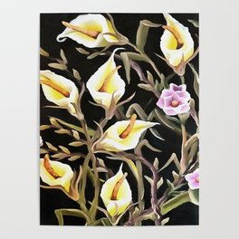 Arum Lily Artistic Floral Design Poster