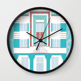 Miami Landmarks - Hotel Webster Wall Clock