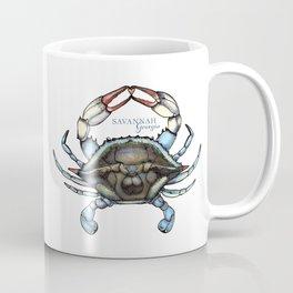 Savannah, Georgia Blue Crab Pen and Ink Digital Illustration Coffee Mug