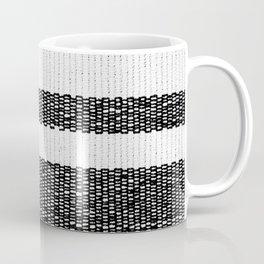 Woven Stripes Black and White Coffee Mug