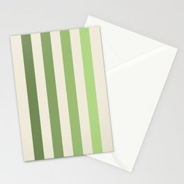 Contemporary Stripes Olivine Olive Green Stationery Cards