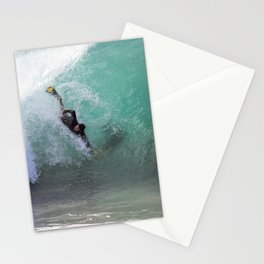 Bodysurfing The Wedge Stationery Cards
