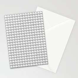 Heart Ink Pattern Stationery Cards