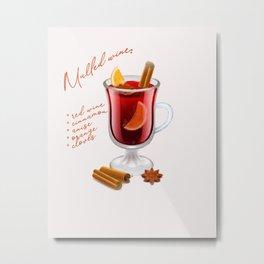 Mulled wine recipe Metal Print