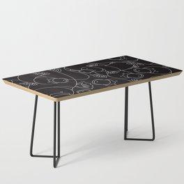Minimalist Platypus Black and White Coffee Table