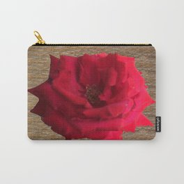 Gold Glitter Single Rose Flower Carry-All Pouch