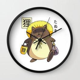 Tanuki Yokai Japan Wall Clock