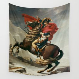 Napoleon Crossing The Alps Wall Tapestry