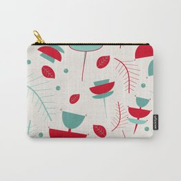 Spring floral mod ivory Carry-All Pouch