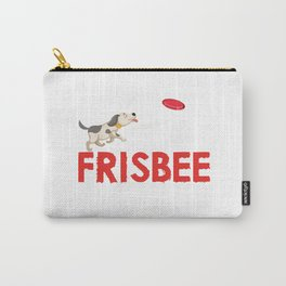 Frisbee Discs Disc Dog Dogs Player Motif Carry-All Pouch