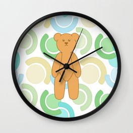 Tedy Bear Bonanza - Green Wall Clock