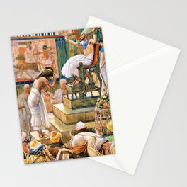 12,000pixel-500dpi - James Tissot - Joseph and His Brethren Welcomed by Pharaoh - Digital Remaster Stationery Cards