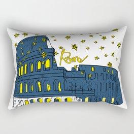 Rome Italy Colosseum Starry night Rectangular Pillow