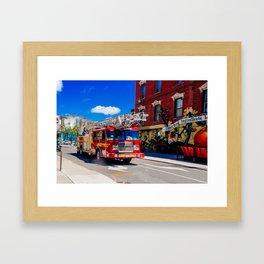 Toronto Firetruck Framed Art Print