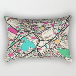 Colorful City Maps: Athens, Greece Rectangular Pillow