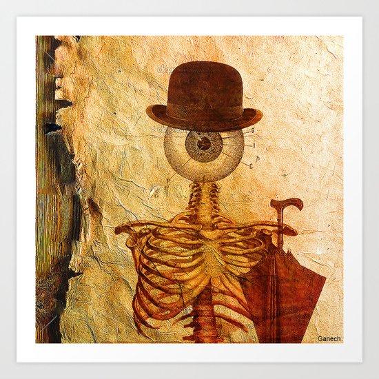 Monsieur Bone Art Print