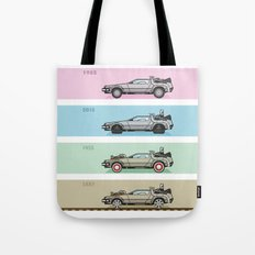 Back to the Future - Delorean x 4 Tote Bag