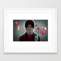 kuroshitsuji Framed Art Prints featuring Sebastian Michaelis (Test submission) by Lalasosu2