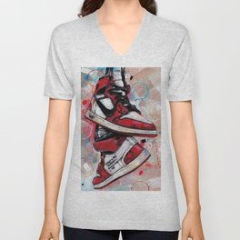 Air Jordan 1 High Off White  Unisex V-Neck