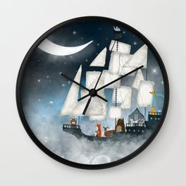 a nautical adventure (above the clouds) Wall Clock