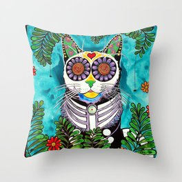 Smudge, the Cat Throw Pillow
