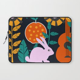 Music and a little rabbit Laptop Sleeve