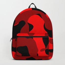 Black and Red Camo abstract Backpack