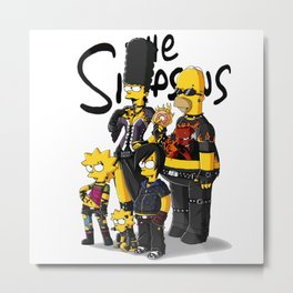 rock band simpson Metal Print