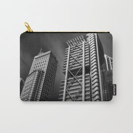 Sydney City Skyline at Chifley Square in black and white Carry-All Pouch