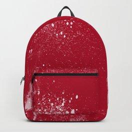 red dark raspberry white splat splatter splash colour palette Backpack