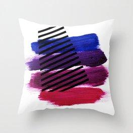 Magenta Broadcast Throw Pillow
