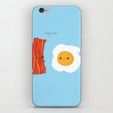 Would you be the bacon to my eggs? iPhone Skin