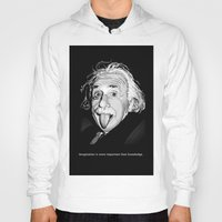 einstein Hoodies featuring Einstein by Michelena