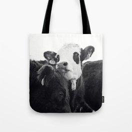 Kissing Cows Print Tote Bag