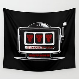 Jackpot Sevens Slots concept logo graphic Wall Tapestry