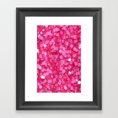 Pink Glitter Framed Art Print