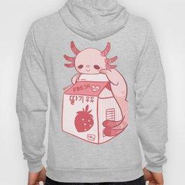 Axolotl Stawberry Milk Hoody