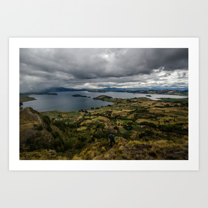 Lake Tota, Colombia Art Print