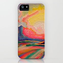 The Sun Is Setting At The Lake iPhone Case