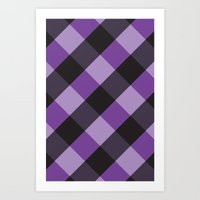 plaid Art Prints featuring Plaid by Steev Szafranski