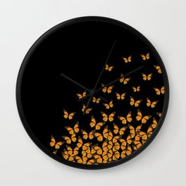 Imperial Butterfly Dark Wall Clock