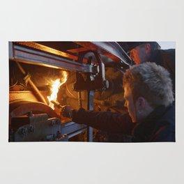 Fixed brake on a steam locomotive Rug