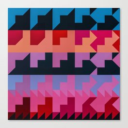 Colorful Geometrical Patterns Design Canvas Print